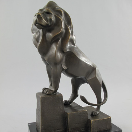 Antike Originale Vor 1945 Metallobjekte Figur Löwe Bronze
