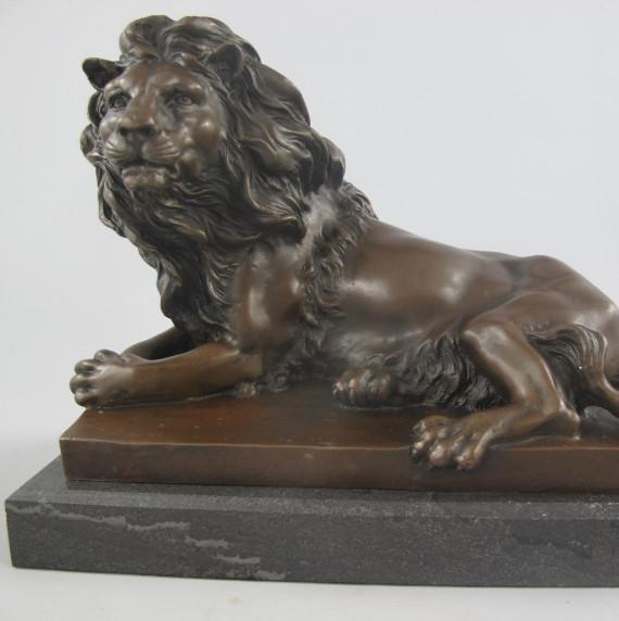 Figur Löwe Bronze Bronze Antike Originale Vor 1945