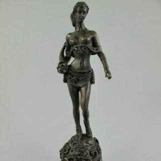"""Bronze Figur Lady aufrecht stehend - Bronze Figur """"Lady aufrecht stehend"""" 24x9x9cm"""