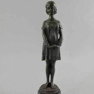 """Bronze Figur Lady schüchtern - Bronze Figur """"Frau - schüchtern"""" 36cm"""