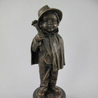 Bronze Figur Mann mit Violine