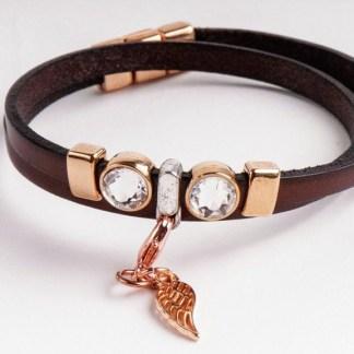 Kristall Armband Engelsflügel Esoterik Schmuck