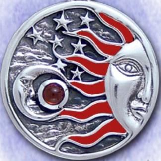 Mond und Gestirne - 925 Silber