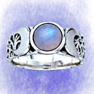 Ring Triple Moon Ring aus 925-Silber