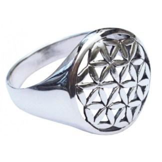 Ring Blume des Lebens gross aus 925 Silber
