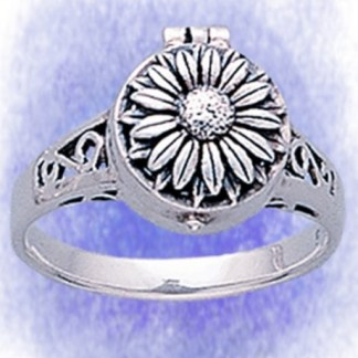 Ring Giftring Blume aus 925-Silber