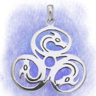Anhänger Celtic Dragons aus 925-Silber