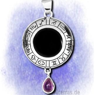 Anhänger Kreis der Sternzeichen aus 925-Silber
