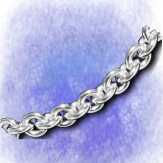 Kette Ankerkette – oval – 9mm aus 925-Silber