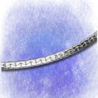 Kette Ankerkette – oval gedrückt - 3,8 mm aus 925-Silber