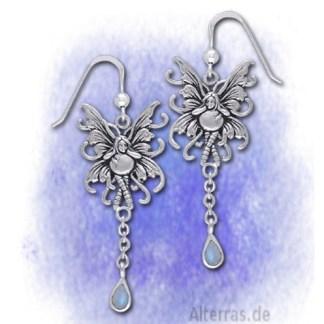Ohrringe Elfe mit Mondstein aus 925-Silber