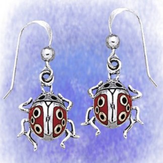 Ohrringe Glückskäfer aus 925-Silber