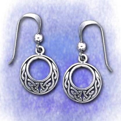 Ohrringe Keltisch rund aus 925-Silber
