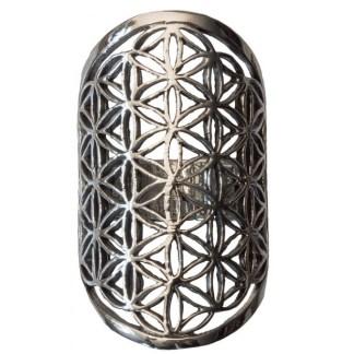 Ring Blume des Lebens aus 925 Silber 4cm