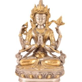 Avalokiteshvara 21cm - Avalokiteshvara sitzend 21cm