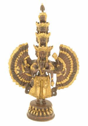 Avalokiteshvara 37cm mit elf Gesichtern2