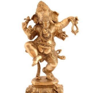 Ganesha tanzend 50cm hell-antik