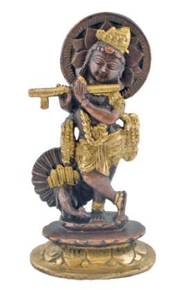 Krishna mit Pfau 15cm2