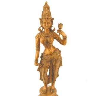 Lakshmi stehend 72cm - Lakshmi stehend fein 80cm antik-gold