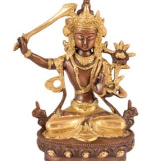 Manjushri sitzend 21cm - Avalokiteshvara sitzend 21cm