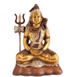 Shiva sitzend 17cm