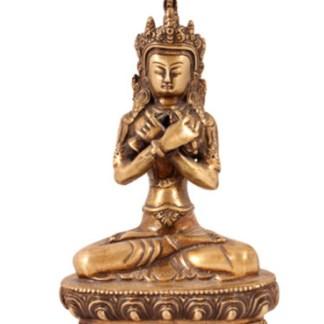 Vajrasattwa 21cm kupfer - Manjushri sitzend 21cm