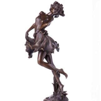 Bronzefigur Blumenmädchen 39x23x16cm