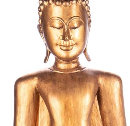 Buddha stehend aus Holz handgeschnitzt 119x39x21cm3 - Buddha stehend aus Holz handgeschnitzt 119x39x21cm