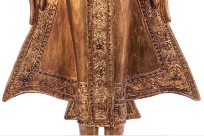 Buddha stehend aus Holz handgeschnitzt 119x39x21cm4 - Buddha stehend aus Holz handgeschnitzt 119x39x21cm