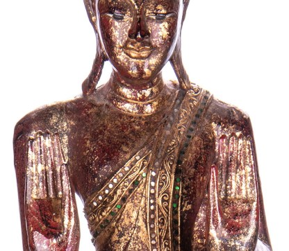 Buddha stehend aus Holz handgeschnitzt 120x39x20cm3 - Buddha stehend aus Holz handgeschnitzt 120x39x20cm