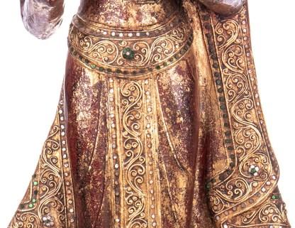 Buddha stehend aus Holz handgeschnitzt 120x39x20cm4 - Buddha stehend aus Holz handgeschnitzt 120x39x20cm