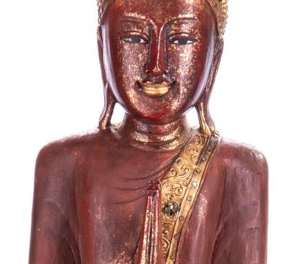 Buddha stehend aus Holz handgeschnitzt 120x40x20cm B 192 - Buddha stehend aus Holz handgeschnitzt 120x40x20cm B-19