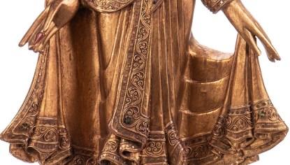 Buddha stehend aus Holz handgeschnitzt 120x40x20cm B 204 - Buddha stehend aus Holz handgeschnitzt 120x40x20cm B-20