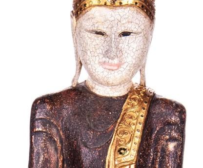 Buddha stehend aus Holz handgeschnitzt 120x40x20cm B 33 - Buddha stehend aus Holz handgeschnitzt 120x40x20cm B-3