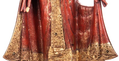 Buddha stehend aus Holz handgeschnitzt 120x40x20cm3 - Buddha stehend aus Holz handgeschnitzt 120x40x20cm