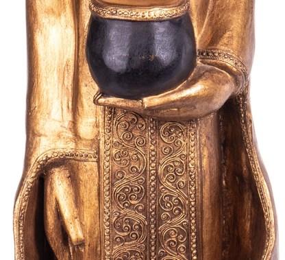 Buddha stehend aus Holz handgeschnitzt 120x40x21cm4 - Buddha stehend aus Holz handgeschnitzt 120x40x21cm