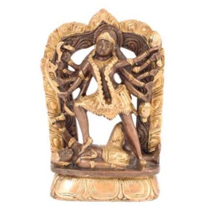 Kali stehend 17cm antik-gold
