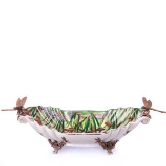 Schale mit Libellen 2 9x28x13cm - Schale mit Libellen (2) 9x28x13cm