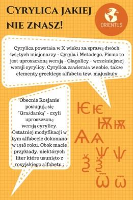 cyrylica grafika