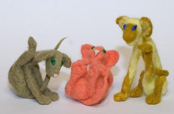 игрушки из шерсти