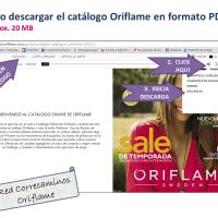 Cómo descargar el Catálogo Oriflame en formato PDF