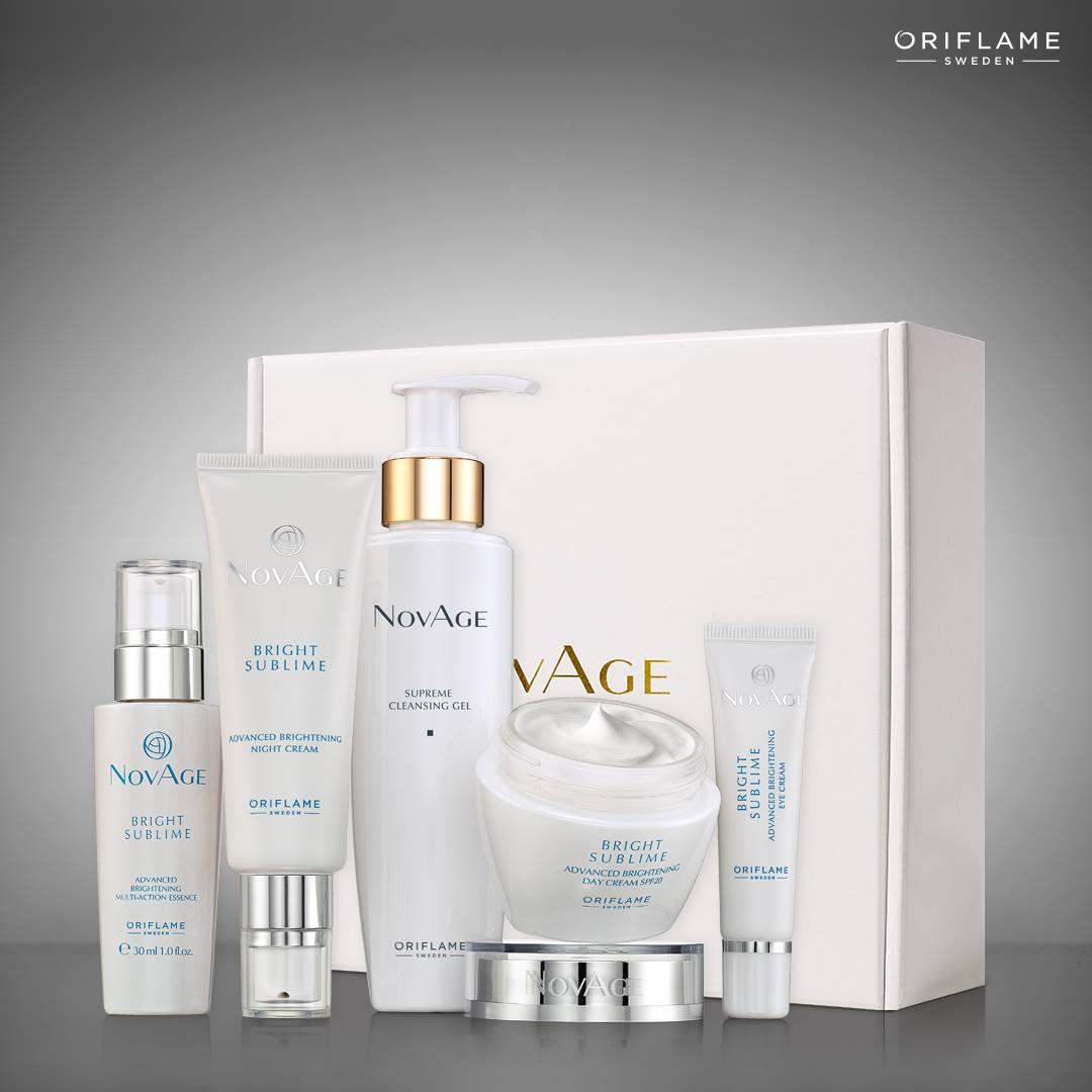 Giveaway Μαΐου - Ιουνίου με δώρα Set NovAge Bright Sublime & Beauty Case Linnea - Oriflame