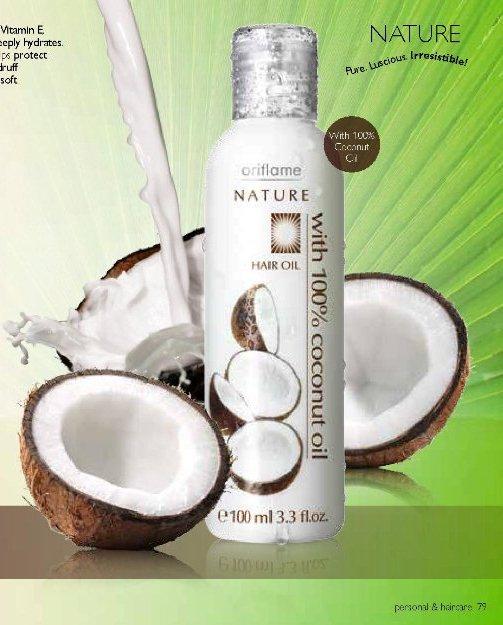 Oriflame Nature Hair Oil 100% Coconut Oil
