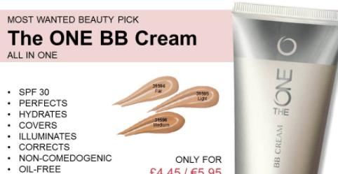 Oriflame BB Cream Review screenshot of europe catalogue