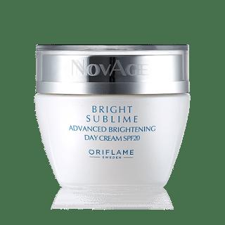 Oriflame Novage Bright Sublime Review day cream