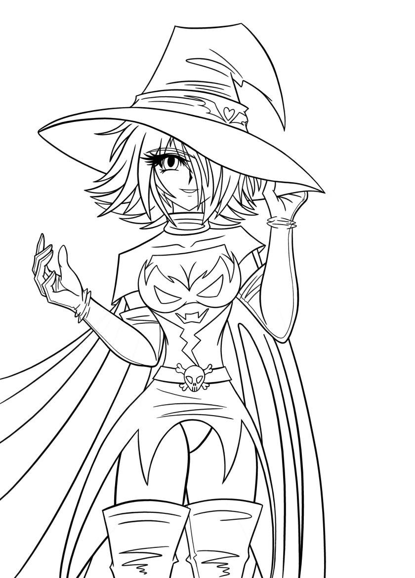 dark uriko witch lineartdarthkanetaker on deviantart