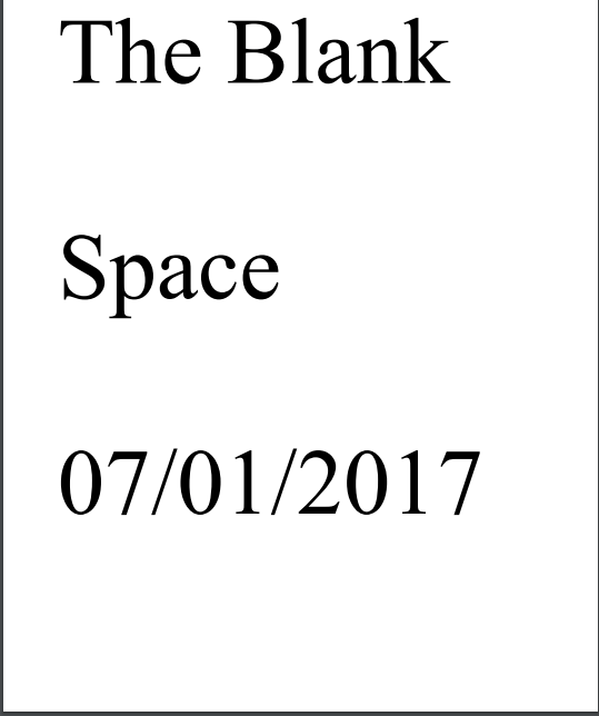 The Blank Space. Short Story. by mywritingnetwork on