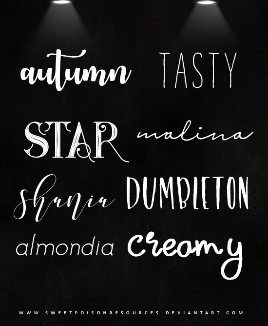 Download Font Pack 001 by sweetpoisonresources on DeviantArt