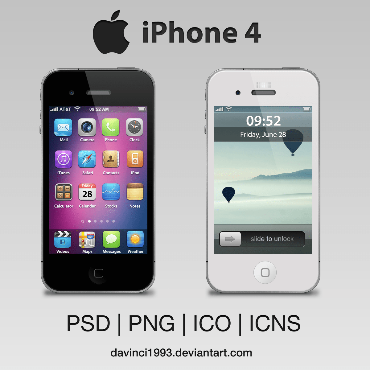 Iphone C Wallpaper Apple Iphone 4 Psd Png Ico Icns By Davinci1993 On