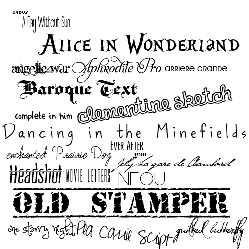 Download Font Pack 1 by Fated--Love on DeviantArt